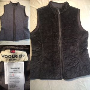 Woolrich reversible chocolate brown vest, size S
